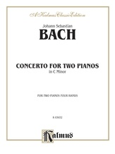 Bach: Concerto for Two Pianos in C Minor - Piano Duets & Four Hands