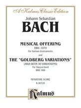 """Bach: The Musical Offering and The """"Goldberg Variations"""" (Miniature Score) - Piano"""