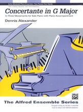 Concertante in G Major: In Three Movements for Solo Piano with Piano Accompaniment - Piano Duo (2 Pianos, 4 Hands) - Piano Duets & Four Hands