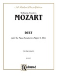 Mozart: Duet (after the Piano Sonata in A Major, K. 331) - String Ensemble