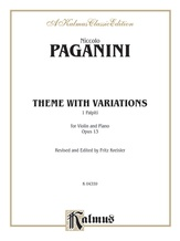 Paganini: Theme with Variations, Op. 13 (Arr. Fritz Kreisler) - String Instruments