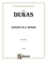 Dukas: Sonata in E flat Minor - Piano