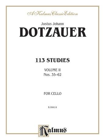 Dotzauer: 113 Studies, Volume II (Nos. 35-62) - String Instruments