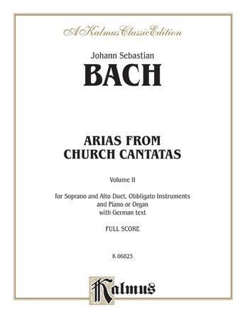 Bach: Soprano and Alto Arias, Volume II (German) - Voice