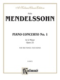 Mendelssohn: Piano Concerto No. 1 in G Minor, Op. 25 - Piano Duets & Four Hands
