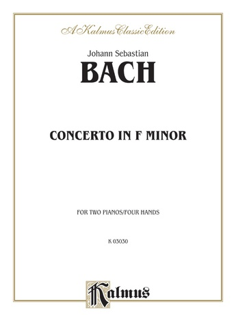 Bach: Piano Concerto in F Minor - Piano Duets & Four Hands