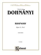 Dohnányi: Rhapsody, Op. 11, No. 1 - Piano