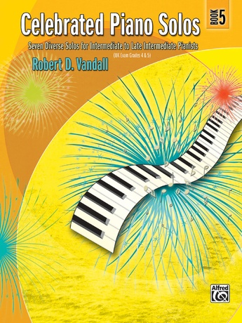 Celebrated Piano Solos, Book 5: Seven Diverse Solos for Intermediate to Late Intermediate Pianists - Piano