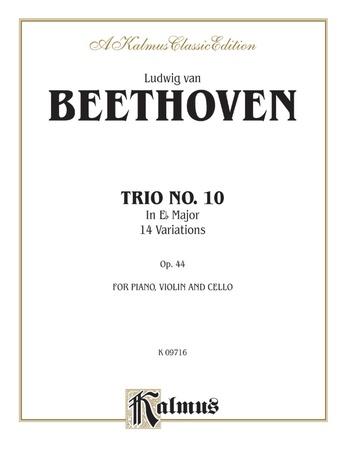 Beethoven: Trio No. 10, in E flat Major, 14 Variations (for piano, violin, and cello) - String Ensemble