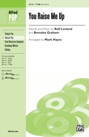 You Raise Me Up Rolf Lovland Ttbb Choral Sheet Music