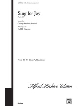 Sing for Joy - Choral