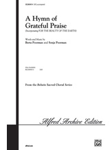 A Hymn of Grateful Praise - Choral