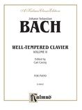 Bach: The Well-Tempered Clavier (Volume II) (Ed. Carl Czerny) - Piano