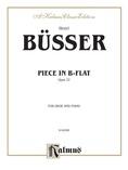 Büsser: Piece in B flat, Op. 22 - Woodwinds