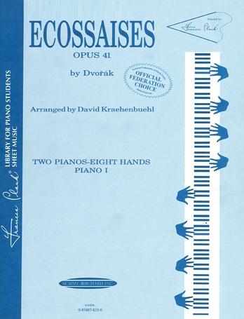 Ecossaises, Opus 41 - Piano Quartet (2 Pianos, 8 Hands) - Piano