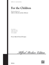 For the Children - Choral