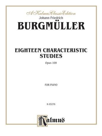 Burgmüller: Eighteen Characteristic Studies, Op. 109 - Piano