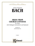 Bach: Tenor Arias, Volume III (German) - Voice