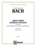 Bach: Tenor Arias, Volume III (German) - Voice