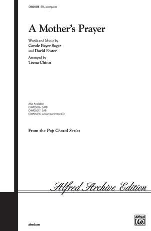 A Mother S Prayer David Foster Ssa Choral Sheet Music