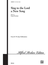 Sing to the Lord a New Song - Choral