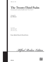 The Twenty-Third Psalm - Choral
