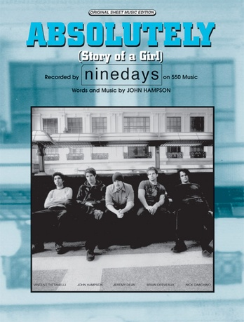Absolutely Story Of A Girl Nine Days Pianovocalchords Sheet Music