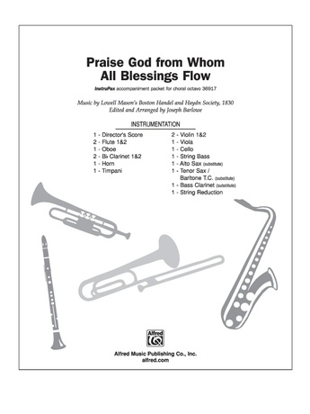 Praise God from Whom All Blessings Flow - Choral Pax