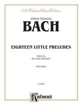 Bach: Eighteen Little Preludes (Ed. Hans Bischoff) - Piano