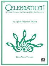 Celebration!: A Youth Concerto for Piano and Rhythm Ensemble - Piano Duo (2 Pianos, 4 Hands) - Piano Duets & Four Hands