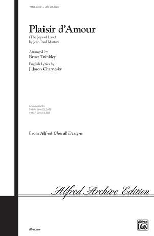 Plaisir d'Amour (The Joys of Love) - Choral