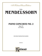 Mendelssohn: Piano Concerto No. 2 in D Minor, Op. 40 - Piano Duets & Four Hands