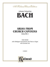 Bach: Tenor Arias, Volume I (German) - Voice