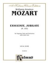Mozart: Exultate Jubilate, K. 165, Motet for Soprano (Latin) - Voice