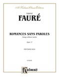 Fauré: Romance sans Paroles - Piano