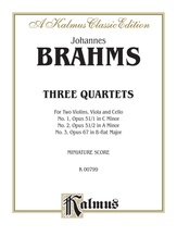 Brahms: Three String Quartets - String Quartet