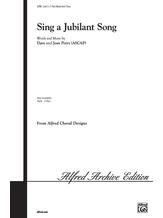 Sing a Jubilant Song - Choral