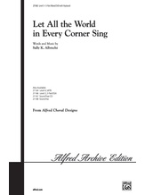 Let All the World in Every Corner Sing - Choral