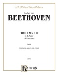 Beethoven: Trio No. 10, in E flat Major, 14 Variations (for piano, violin, and cello) - String Ensemble