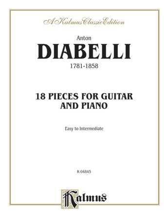 Diabelli: 18 Pieces for Guitar and Piano - Guitar