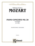 Mozart: Piano Concerto No. 20 in D Minor, K. 466 - Piano Duets & Four Hands