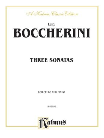 Boccherini: Three Sonatas for Cello and Piano - String Instruments